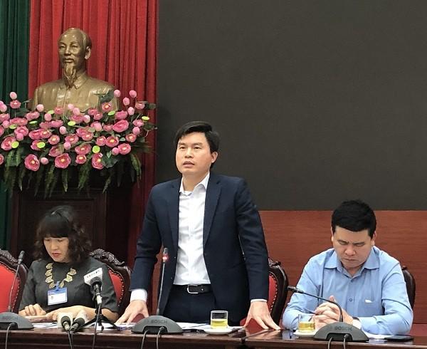 Phó Giám đốc Sở TN&MT Lê Tuấn Định thông tin tại hội nghị