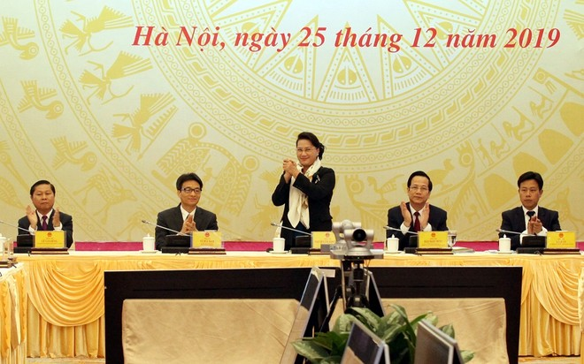 Chủ tịch Quốc hội Nguyễn Thị Kim Ngân dự và phát biểu chỉ đạo hội nghị