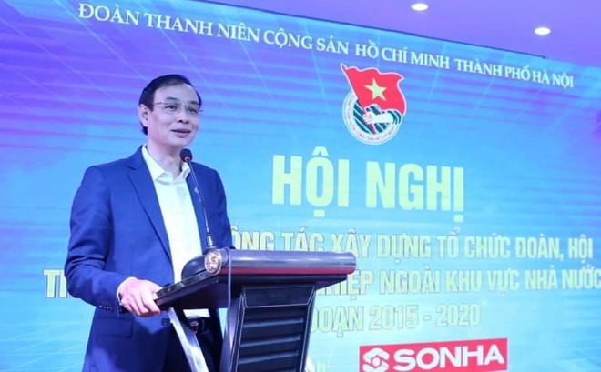Phó Bí thư Thành ủy Hà Nội Đào Đức Toàn phát biểu tại hội nghị