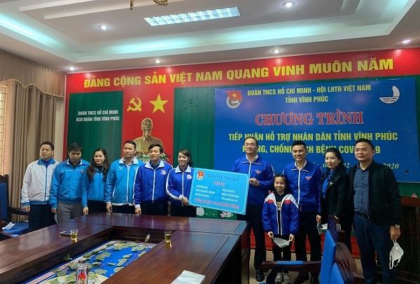 Tuổi trẻ Thủ đô hỗ trợ người dân tỉnh Vĩnh Phúc chống dịch COVID-19