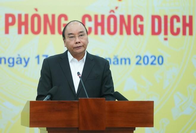 Thủ tướng Chính phủ Nguyễn Xuân Phúc kêu gọi người dân đồng lòng chống dịch Covid-19