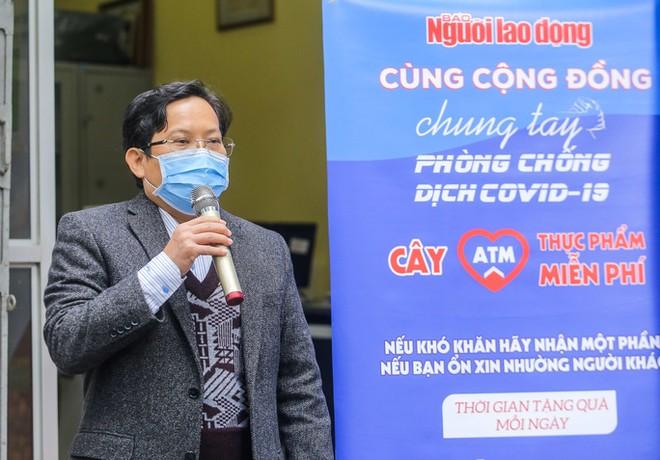 Tổng Biên tập Báo Người Lao Động Tô Đình Tuân phát biểu tại buổi khai trương