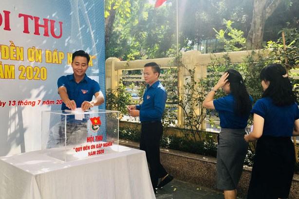 """Cán bộ, công chức, viên chức, người lao động cơ quan Thành đoàn Hà Nội ủng hộ Quỹ """"Đền ơn đáp nghĩa"""" năm 2020"""