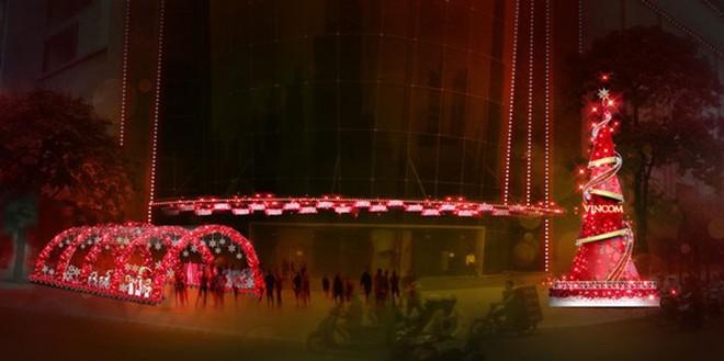 Không gian Giáng Sinh lộng lẫy tại Vincom Center Nguyễn Chí Thanh