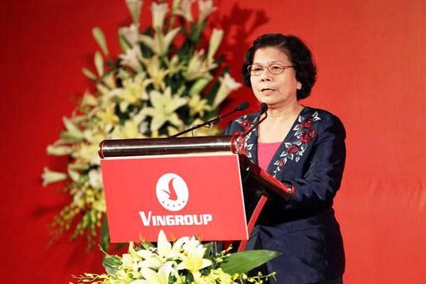 Bà Kim Hạnh - Chủ tịch hội doanh nghiệp hàng Việt Nam chất lượng cao đánh giá cao chương trình đồng hành, hỗ trợ doanh nghiệp Việt của Vingroup