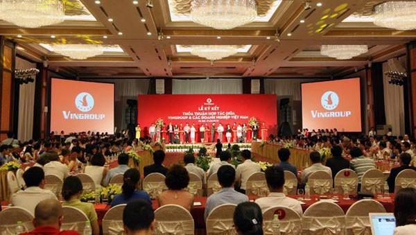 Lần đầu tiên gần 250 doanh nghiệp Việt cùng đồng hành trong chương trình do Vingroup khởi xướng