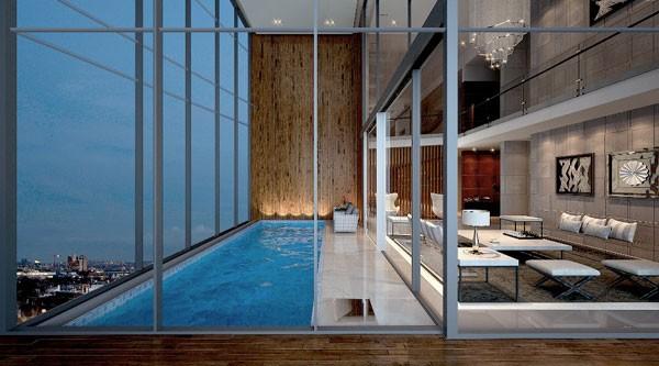Penthouse với bể bơi trong nhà thời thượng tại tòa M1 – Vinhomes Metropolis