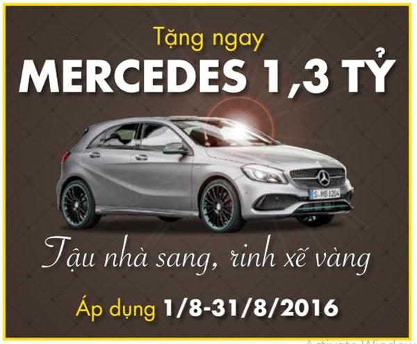 """""""Tậu biệt thự sang, rinh xế vàng Mercedes"""" – Hotline: 18001036/1"""