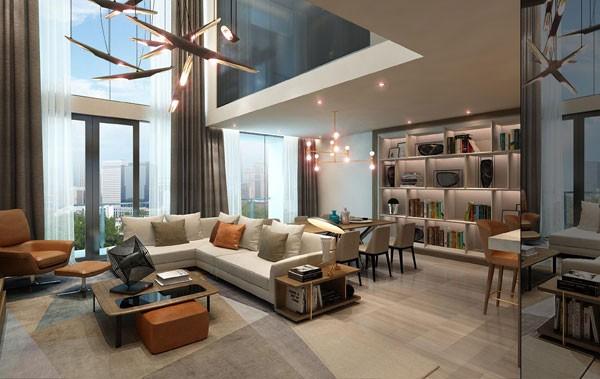 Phòng khách Sun Grand City Thuy Khue Residence