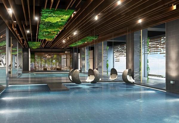 Bể bơi 4 mùa chuẩn Olympic của Sun Grand City Thuy Khue Residence