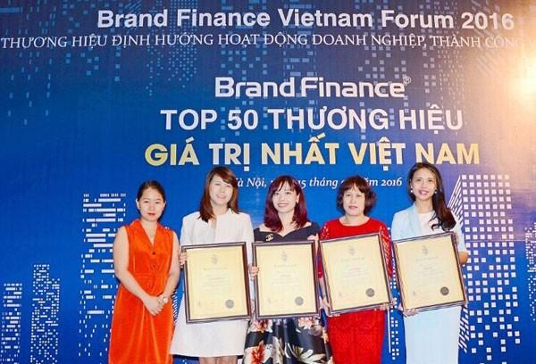 Vingroup sở hữu 5 thành viên lọt Top 50 Brand Finance 2016