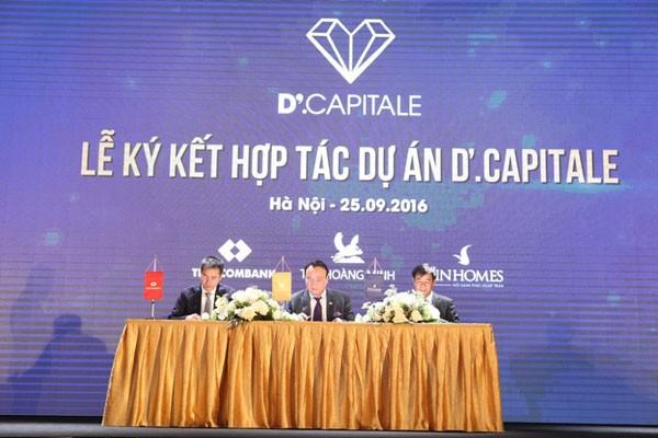 Tân Hoàng Minh Group-Vingroup-Techcombank hợp tác triển khai dự án D'.Capitale