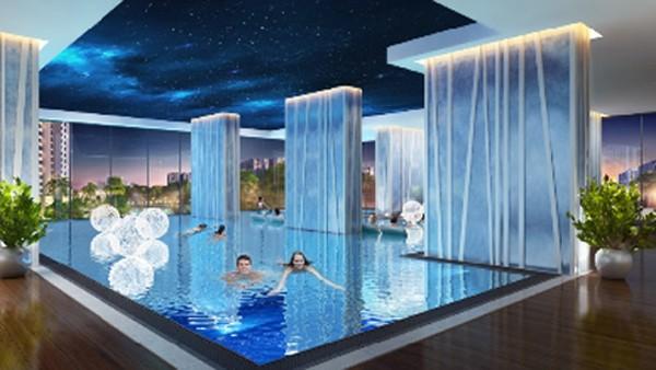 Bể bơi bốn mùa, duy nhất tại tòa A3, là nơi thư giãn và rèn luyện sức khỏe lý tưởng cho cư dân.