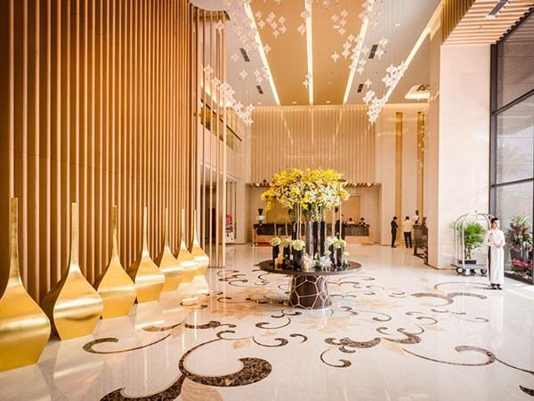 Sảnh đón khách tiêu chuẩn 5 sao của Vinpearl Cần Thơ Hotel
