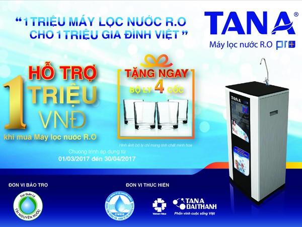 """Chương trình """"1 triệu máy lọc nước R.O cho 1 triệu gia đình Việt"""""""