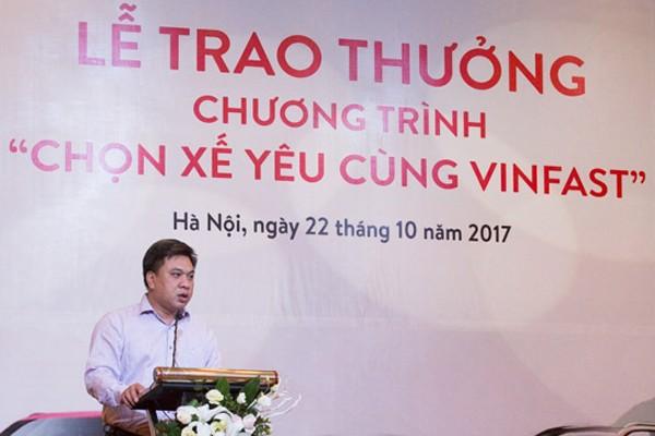 """Ông Lê Hoàng Tài, Phó Cục trưởng Cục Xúc tiến thương mại Bộ Công thương đánh giá """"Cách tổ chức bình chọn của Vingroup rất chuyên nghiệp, minh bạch. Tập đoàn này đang thắp lên niềm tin về xe thương hiệu Việt cho người tiêu dùng"""". """""""