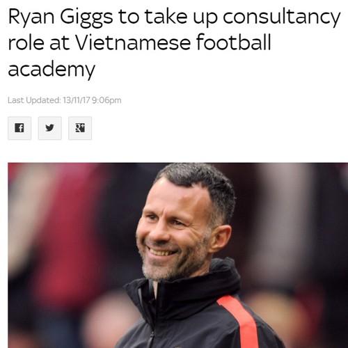 Sky Sports đưa tin về vai trò mới của Giggs