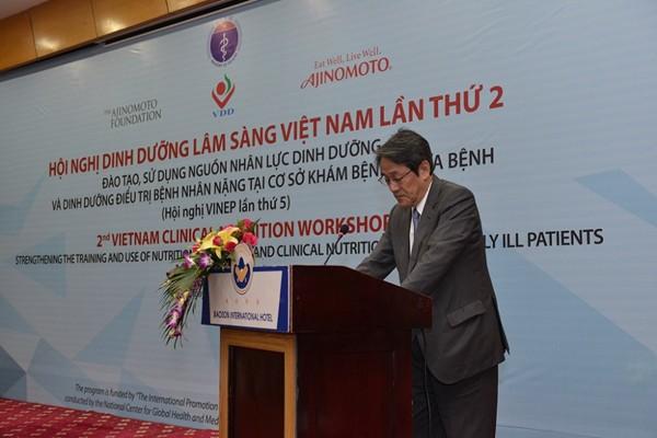 Ngài Kunio Umeda - Đại sứ quán Nhật Bản đánh giá cao dự án VINEP - một thành quả từ sự hợp tác hữu nghị giữa Việt Nam và Nhật Bản