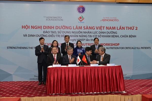 Lễ ký kết hứa hẹn sẽ mở ra một giai đoạn phát triển mới cho hệ thống dinh dưỡng Việt Nam