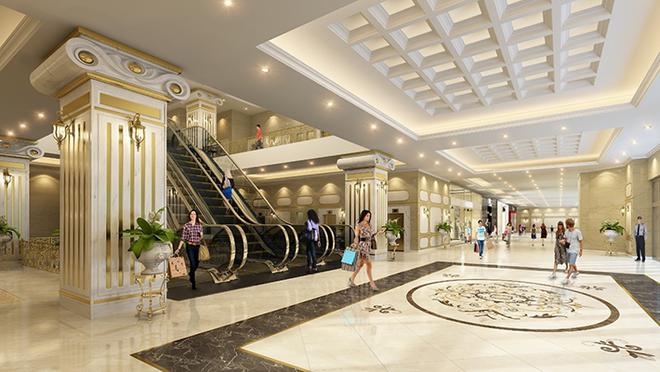 Trung tâm thương mại với nhiều tiện ích phục vụ cư dân cũng chính là một trong những yếu tố thu hút khách hàng có nhu cầu thuê căn hộ tìm đến