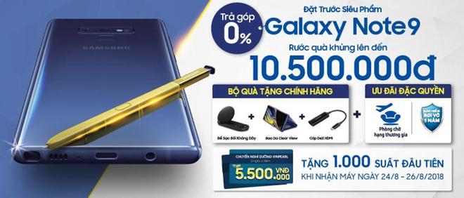 1.700 voucher nghỉ dưỡng 5 sao tặng khách đặt mua Samsung Galaxy Note9 ảnh 1