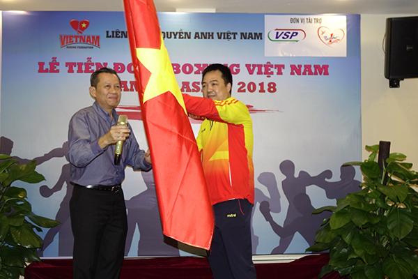 Ông Trần Minh Tiến, Chủ tịch Liên đoàn Boxing Việt