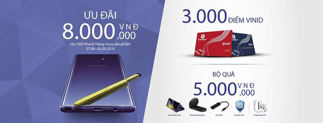 Nhận ngay ưu đãi 8 triệu đồng khi mua Galaxy Note9