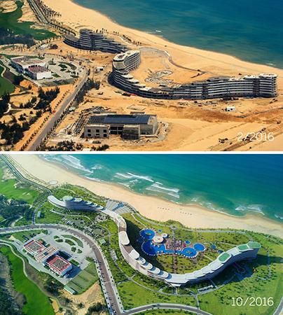 Giữa đồi cát bay, FLC Quy Nhơn như một ốc đảo xanh làm dịu mát ánh nắng chói chang của biển trời miền Trung.