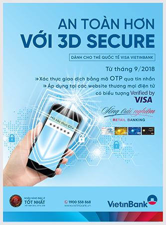 VietinBank bảo mật tối ưu thẻ Visa cho khách hàng