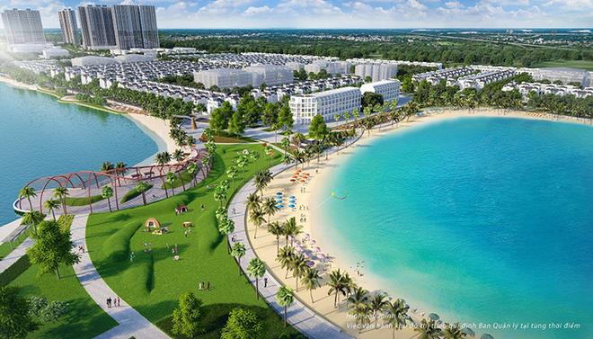 VinCity Ocean Park là dự án duy nhất tại Việt Nam sở hữu biển hồ nước mặn lên tới 6,1ha