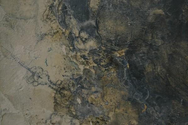 Cận cảnh từng đường vân trên một tác phẩm của họa sĩ Hà Mạnh Thắng