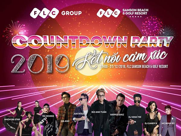 FLC Countdown Party 2019 diễn ra trên bãi biển Sầm Sơn