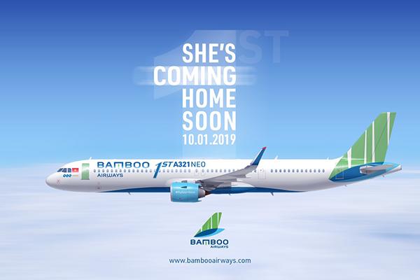 Hình ảnh máy bay Airbus A321 Neo của Bamboo Airways