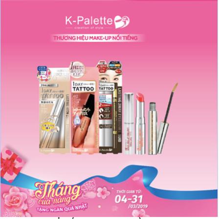 Thương hiệu Make up nổi tiếng K-Palette – đồng giảm 15% (4/3-31/3/2019)