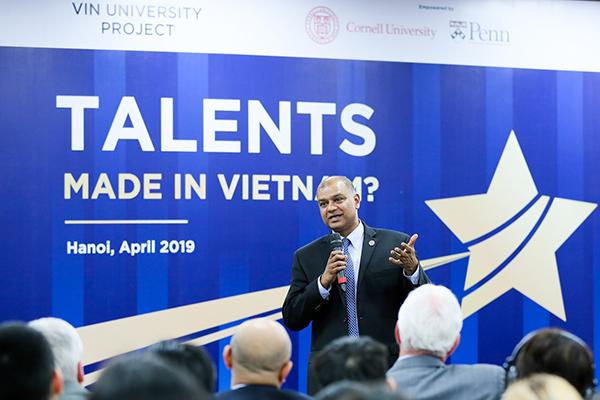 """GS Verma tin tưởng VinUni sẽ là nơi đào tạo nhân tài """"Made in Viet Nam"""""""