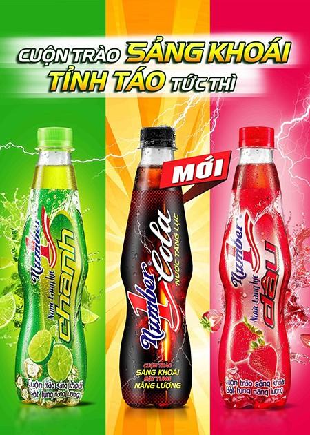 Nước tăng lực Number 1 Cola được nghiên cứu kết hợp từ sản phẩm truyền thống của Tân Hiệp Phát và hương vị Cola đặc trưng.