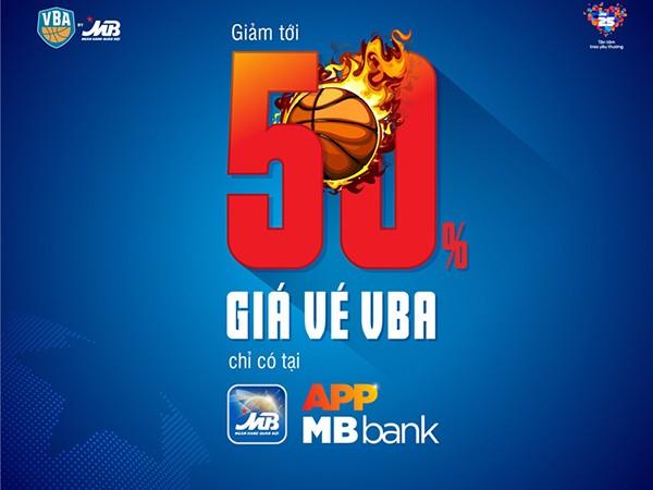Giảm giá lên tới 50% khi mua vé VBA by MB qua kênh App MBBank