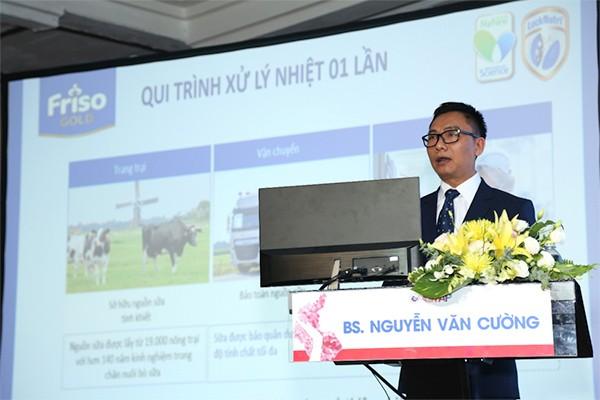 Bác sĩ Nguyễn Văn Cường, đại diện nhãn hàng Friso chia sẻ về chế độ dinh dưỡng chuyên biệt dành cho trẻ sinh non