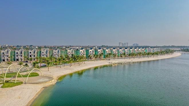 Hồ trải cát trắng 24,5ha Vinhomes Ocean Park – Nơi sẽ chính thức diễn ra sự kiện Ngày hội thành phố biển hồ