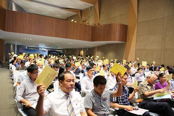 Các nội dung chương trình đại hội được cổ đông biểu quyết với tỷ lệ cao
