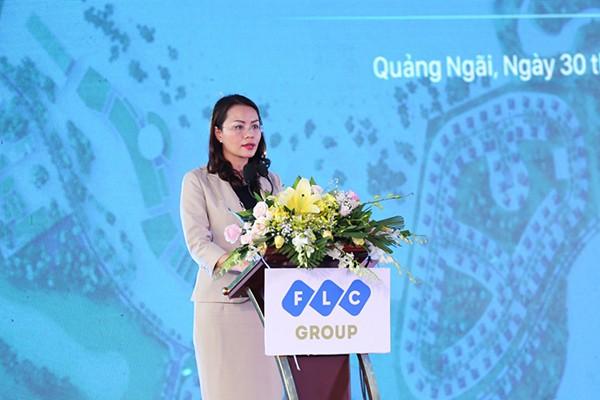 Bà Hương Trần Kiều Dung, Phó Chủ tịch kiêm Tổng giám đốc Tập đoàn FLC phát biểu
