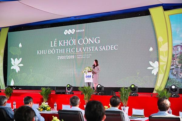 Bà Hương Trần Kiều Dung, Phó Chủ tịch kiêm Tổng Giám đốc Tập đoàn FLC