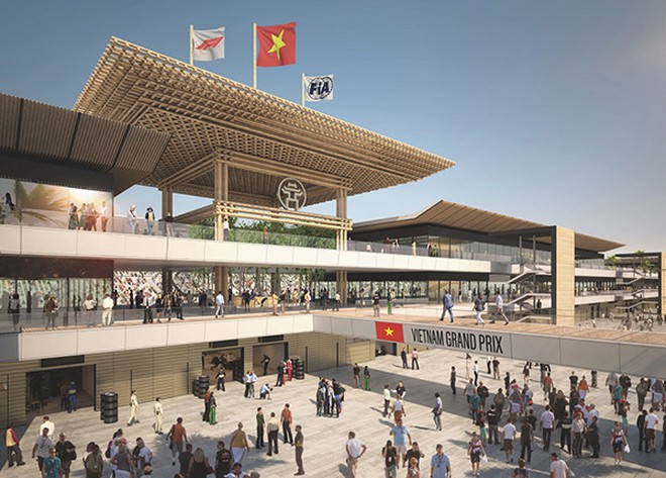 Các hạng mục của đường đua F1 Hà Nội đang được gấp rút hoàn thiện đúng tiến độ, trong đó tòa nhà điều hành trung tâm – hạng mục quan trọng nhất của đường đua đã được cất nóc.