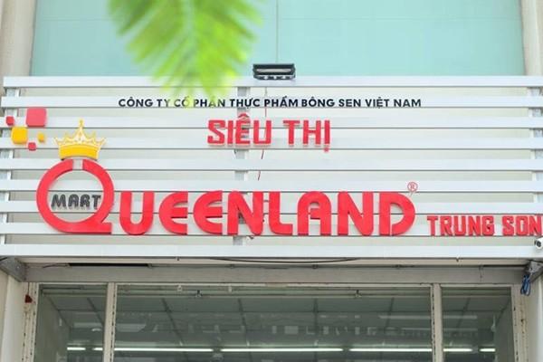 Chuỗi siêu thị Queenland Mart thuộc Công ty cổ phần thực phẩm Bông Sen. Trên trang thông tin,