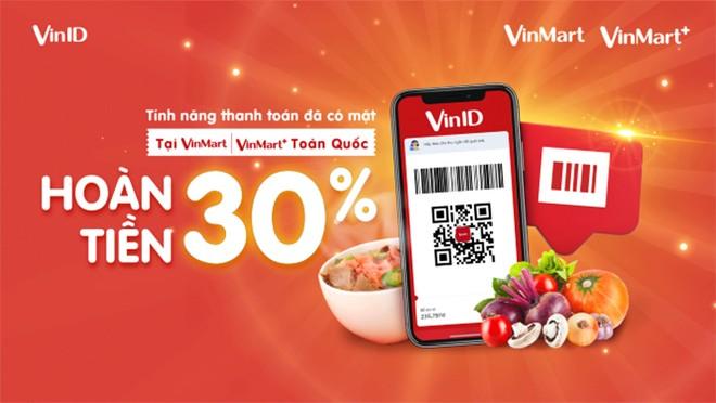 """Khách hàng nhận được ưu đãi lên tới 30% khi sử dụng tính năng """"Thanh toán"""" trên VinID"""