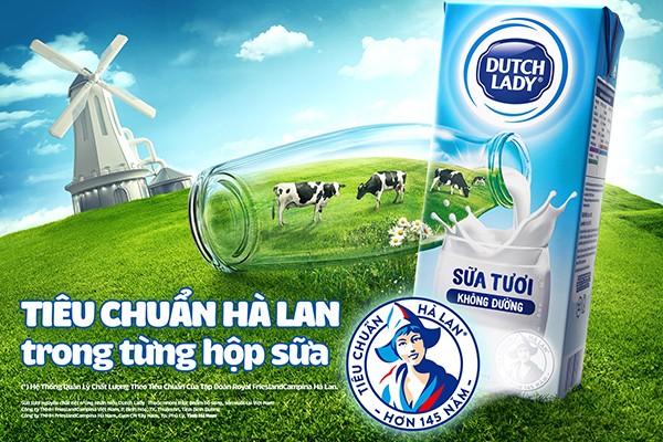Độ an toàn của sữa tươi Cô Gái Hà Lan tăng từ 10 lên 11 lần so với chuẩn Việt Nam