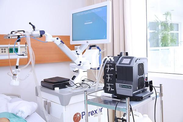 Bệnh viện đa khoa quốc tế Vinmec Times City là một trong số ít bệnh viện tại Việt Nam được trang bị máy tăng nhiệt (Pyrexar).