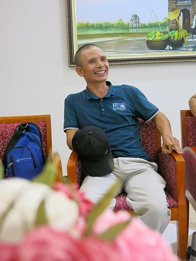 Bệnh nhân Nguyễn Văn Liện (58 tuổi, Quảng Bình) trong lần tái khám thứ 4