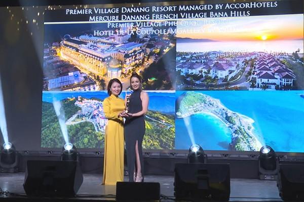 Đại diện Sun Group nhận giải thưởng WLHA 2019