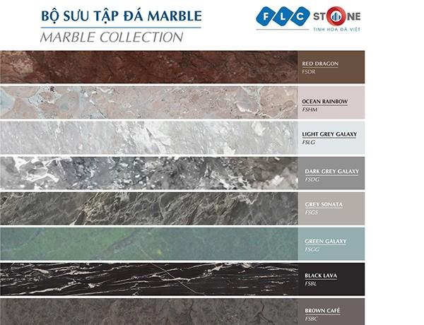 Đá Marble tự nhiên có màu sắc đa dạng và tinh tế hơn hẳn với màu sắc của đá nhân tạo.